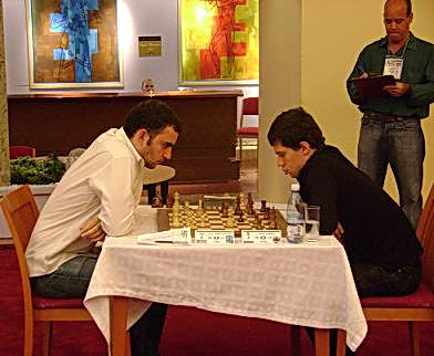 Leinier Domínguez y Evgueny Alekseev